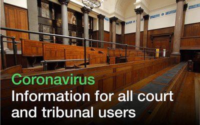 TCC adjustments for hearings to take account of coronavirus