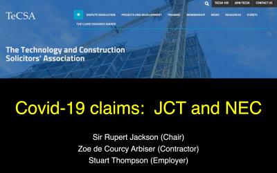 TECSA Webinar – Covid-19 Claims: JCT and NEC